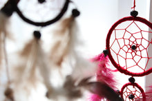 Load image into Gallery viewer, Bali Dreamcatchers - Large Round - Black/White/Red - Angelo's Outlet Ltd