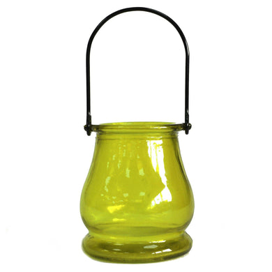 Recycled Candle Lantern - Moss - Angelo's Outlet Ltd