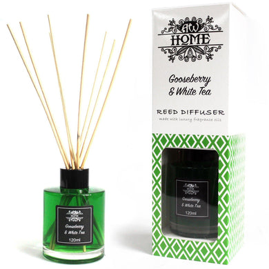 120ml Reed Diffuser -  Gooseberry & White Tea - Angelo's Outlet Ltd