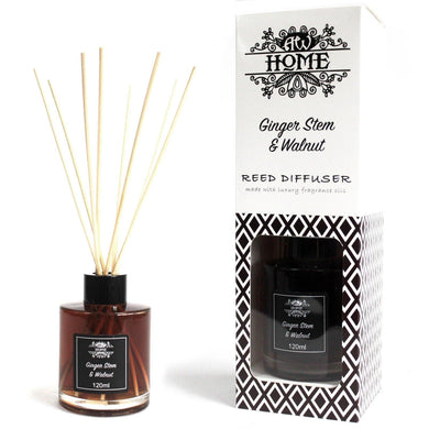 120ml Reed Diffuser - Ginger Stem & Walnut - Angelo's Outlet Ltd