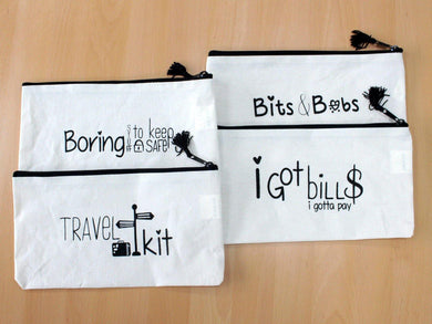 Get Organised Pouch - Boring Stuff to Keep Safe - Angelo's Outlet Ltd