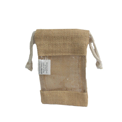 Small - Jute Window Bag 16x10cm - Angelo's Outlet Ltd