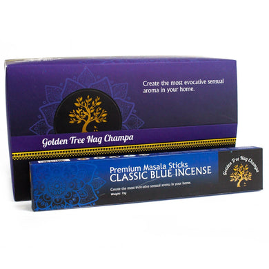 Golden Tree Nag Champa Incense - Classic Blue - Angelo's Outlet Ltd