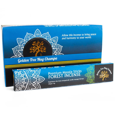 Golden Tree Nag Champa Incense - Forest Blend - Angelo's Outlet Ltd