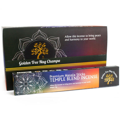 Golden Tree Nag Champa Incense - Temple Blend - Angelo's Outlet Ltd