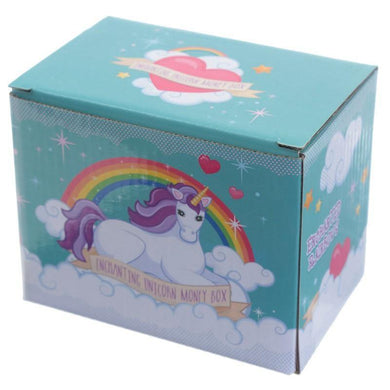Unicorn on Rainbow money Box - Angelo's Outlet Ltd