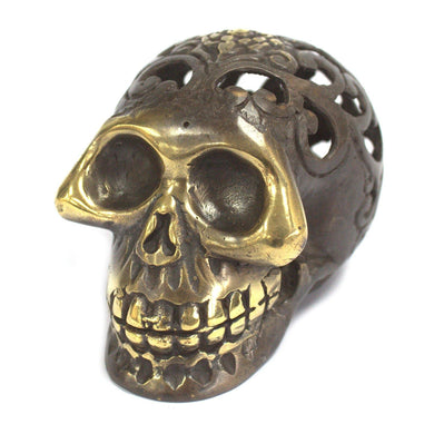 Vintage Brass Skull - Med - Angelo's Outlet Ltd