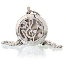 Load image into Gallery viewer, Aromatherapy Diffuser Necklace - Music Notes 25mm - Angelo's Outlet Ltd