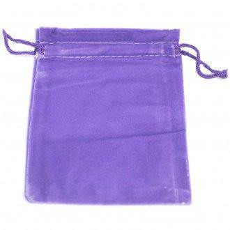 Quality Velvet Pouch - Purple 10x12cm - Angelo's Outlet Ltd