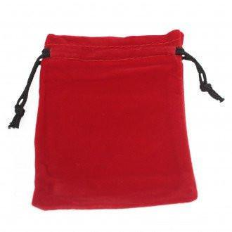 Quality Velvet Pouch - Red 10x12cm - Angelo's Outlet Ltd