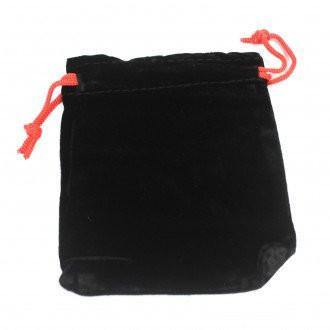 Quality Velvet Pouch - Black 10x12cm - Angelo's Outlet Ltd