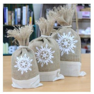 Danish Pouch Set of 3 - White & Snowflake - Angelo's Outlet Ltd