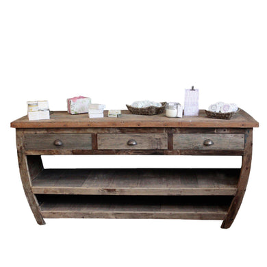 Centerpiece Recycled Wood Table - 180x60x80cm - Angelo's Outlet Ltd