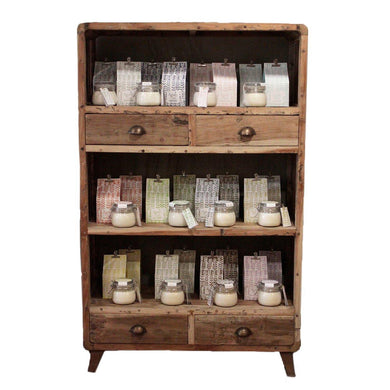Shelf Display - Recycled Wood - 100x40x160cm - Angelo's Outlet Ltd