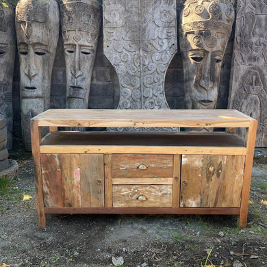 Large TV Stand - Recycled Wood - Angelo's Outlet Ltd