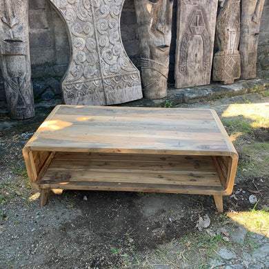 Large Coffee Table - Recycled Wood - Angelo's Outlet Ltd