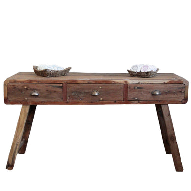 Console Table - Recycled Wood - 150x50x80cm - Angelo's Outlet Ltd