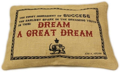 Washed Jute Cover 38x25cm - A Great Dream - Angelo's Outlet Ltd