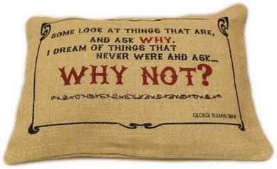 Washed Jute Cover 38x25cm - Why Not? - Angelo's Outlet Ltd