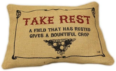 Washed Jute Cover 38x25cm - Take Rest - Angelo's Outlet Ltd