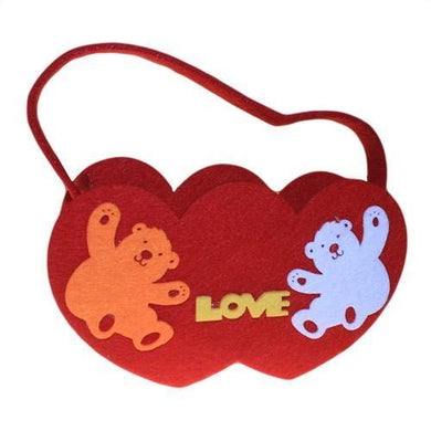 Spring Felt Gift Bags - Two Hearts Asst - Angelo's Outlet Ltd