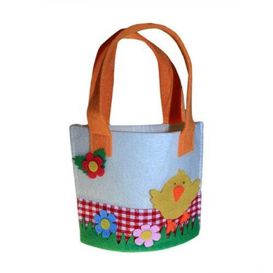 Spring Felt Gift Bags - Small Chick Asst - Angelo's Outlet Ltd