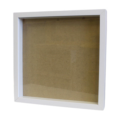 Deep Box Picture Frame 14x14 inch - White - Angelo's Outlet Ltd