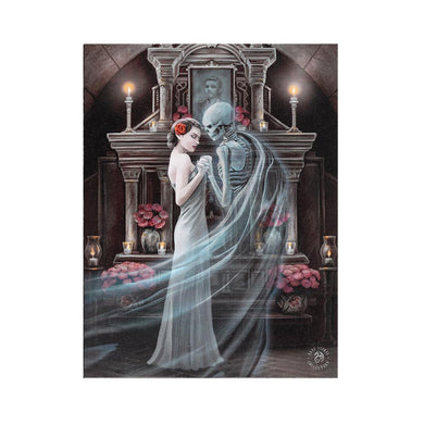 19x25cm Forever Yours Canvas Plaque by Anne Stokes - Angelo's Outlet Ltd