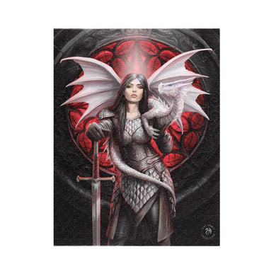 19x25cm Valour Canvas Plaque by Anne Stokes - Angelo's Outlet Ltd