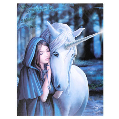 19x25cm Solace Canvas Plaque by Anne Stokes - Angelo's Outlet Ltd