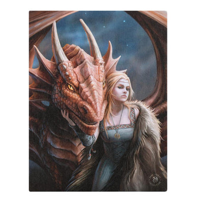 19x25cm Friend or Foe Canvas Plaque by Anne Stokes - Angelo's Outlet Ltd