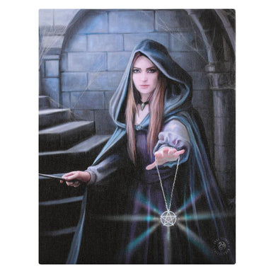 19x25cm Light in the Darkness Canvas Plaque by Anne Stokes - Angelo's Outlet Ltd