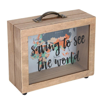 Saving To See The World Money Box - Angelo's Outlet Ltd