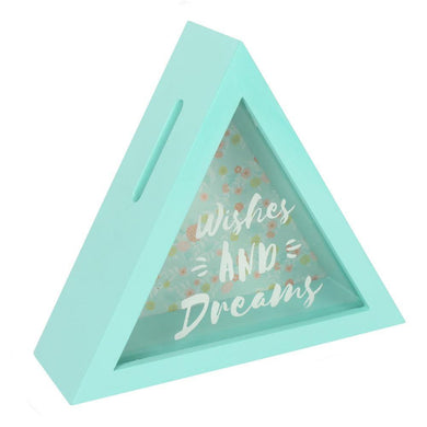 Wishes And Dreams Triangle Money Box - Angelo's Outlet Ltd