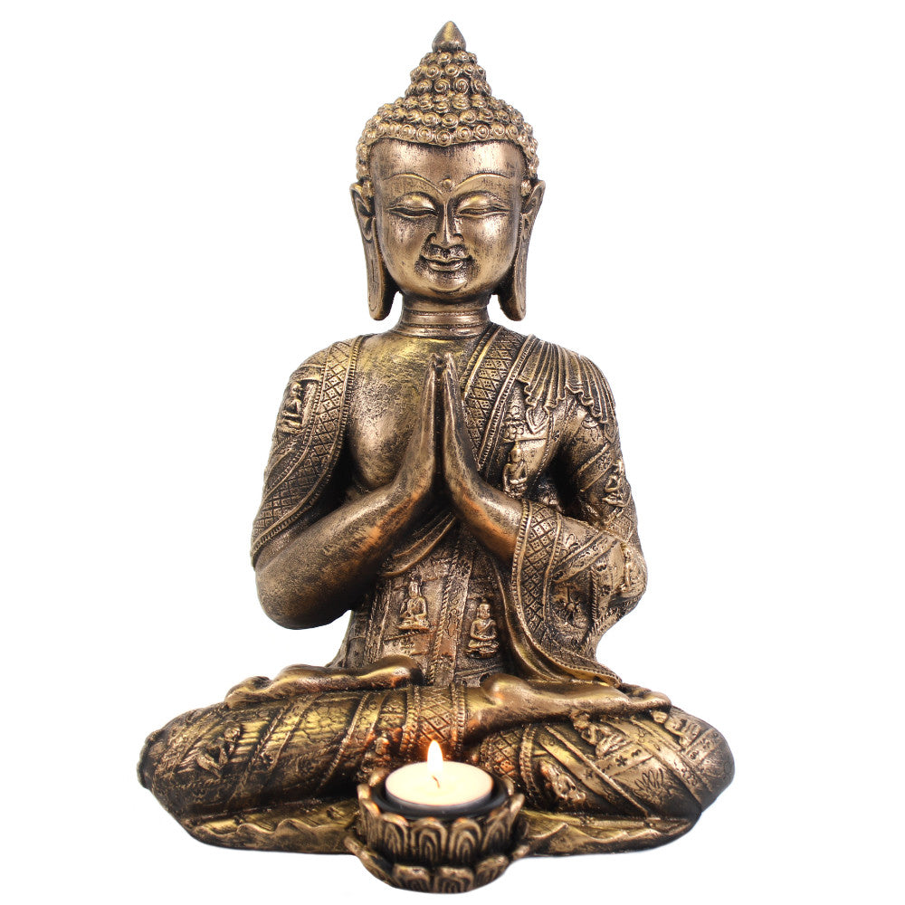 Large Buddha Tealight Holder - Angelo's Outlet Ltd
