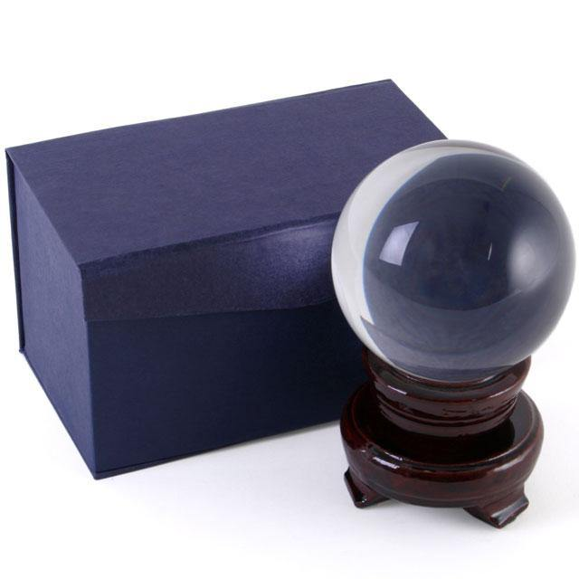 8cm Crystal Ball with Stand - Angelo's Outlet Ltd