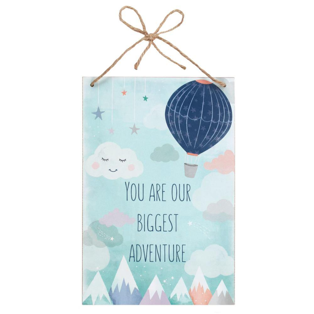 You Are Our Biggest Adventure Hanging Plaque - Angelo's Outlet Ltd
