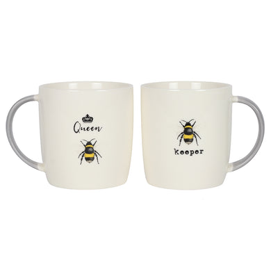 Queen Bee and Bee Keeper Mug Set - Angelo's Outlet Ltd