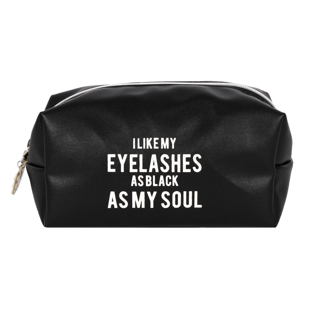 As Black As My Soul Makeup Bag - Angelo's Outlet Ltd