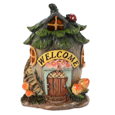 Small Fairy Welcome House with LED - Angelo's Outlet Ltd