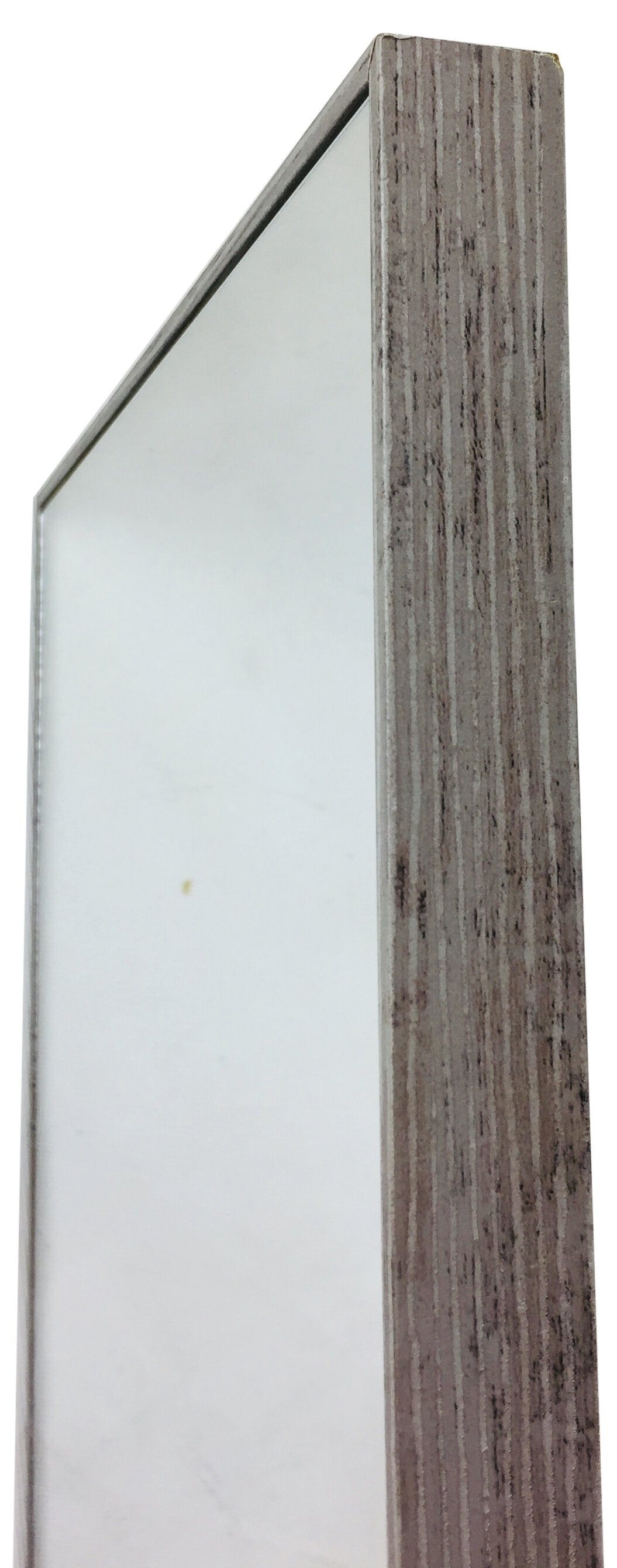 Grey Wood Wall Mirror 121cm
