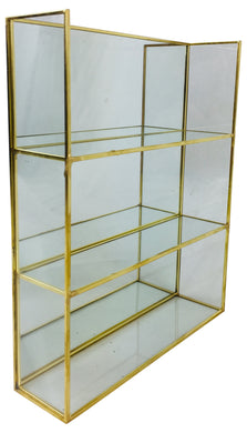 Gold Mirror Shelf Unit 28cm