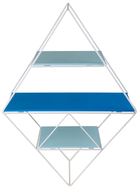 Blue Wire Geometric Shelf - Angelo's Outlet Ltd