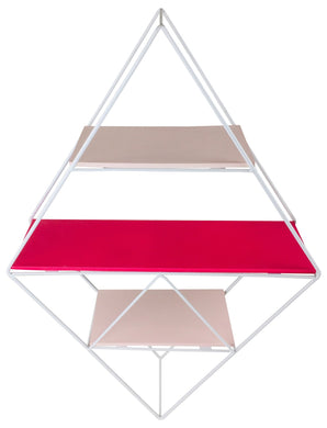 Pink Wire Geometric Shelf