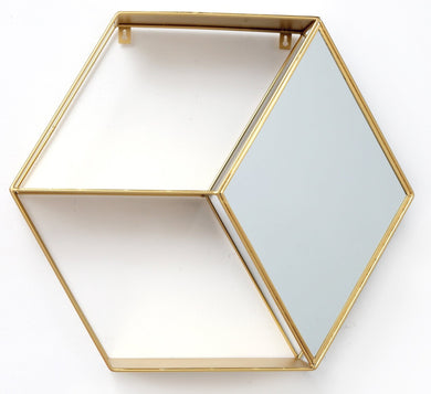 Hexagon Golden Mirror Unit