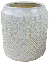 Load image into Gallery viewer, White Star Textured Stoneware Planter 20cm