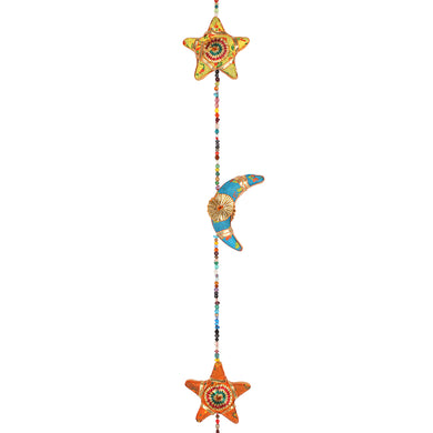 Hanging Moons and Stars with Bell - Angelo's Outlet Ltd