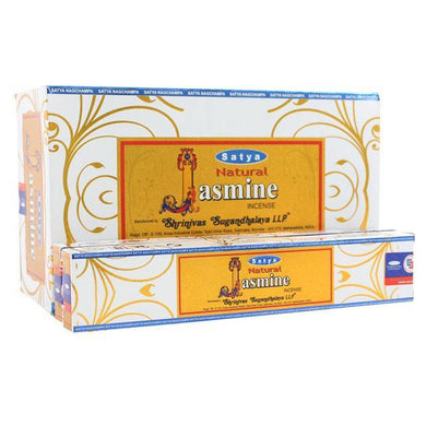 12 Packs of Natural Jasmine Incense Sticks by Satya - Angelo's Outlet Ltd