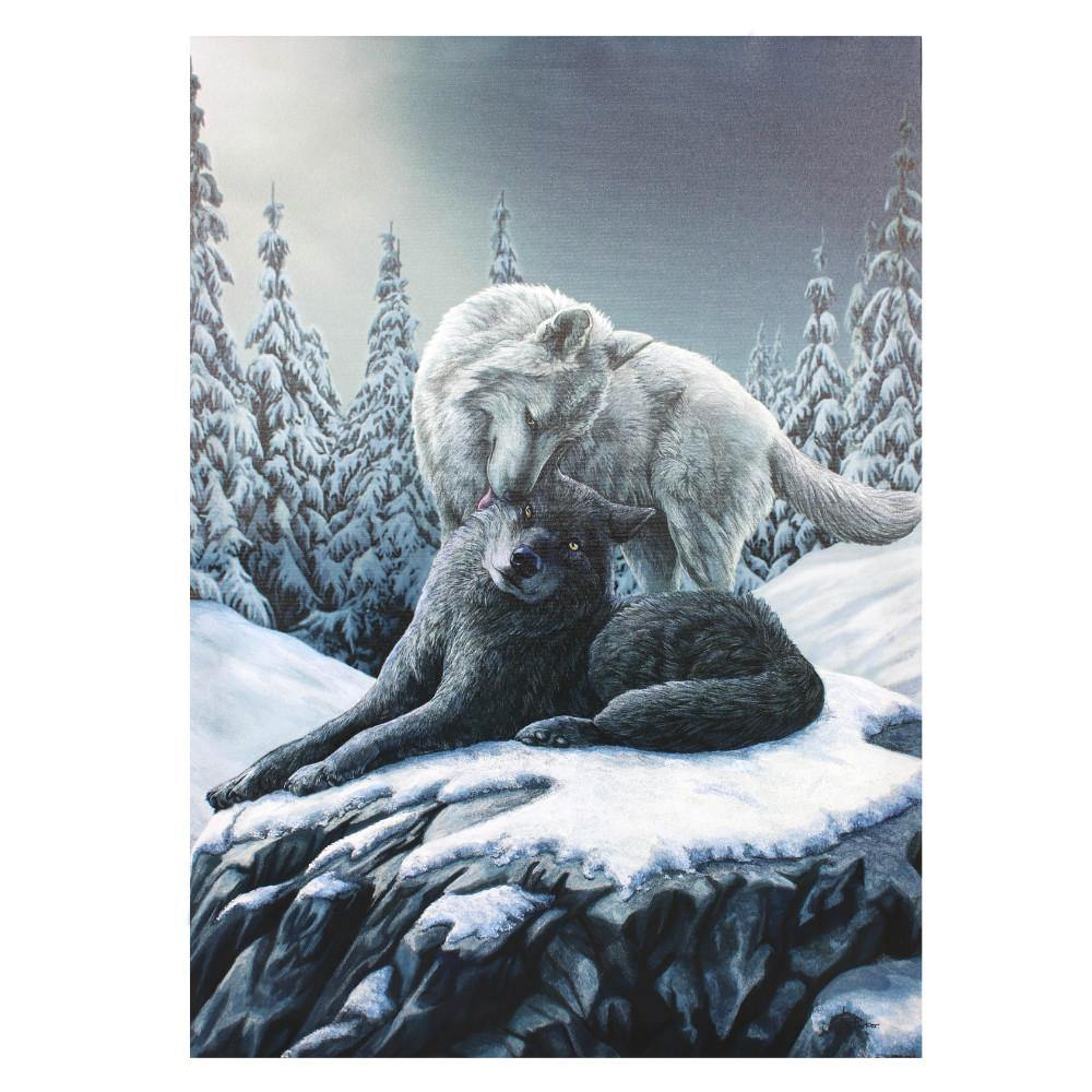 50x70cm Snow Kisses Canvas Plaque by Lisa Parker - Angelo's Outlet Ltd