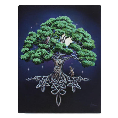 19x25cm Tree Of Life Canvas Plaque by Lisa Parker - Angelo's Outlet Ltd